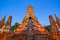 Pagoda of Ayutthaya Royalty Free Stock Photos