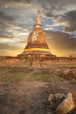 Pagoda at Ayutthaya temple, thailand Royalty Free Stock Photos