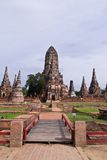Pagoda at Ayutthaya temple, thailand Stock Photography