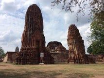 Pagoda Ayutthaya Thailand. The pagoda ancient city in Ayutthaya Mahatat temple Stock Image