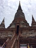 Pagoda in Ayutthaya Thailand. Ancient temple in Ayutthaya at wat chai mongkol Stock Image