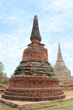Pagoda at Ayutthaya,Thailand. Important historical place in Thailand royalty free stock photography