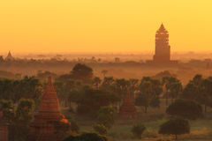 Pagoda in Bagan. On sunrise stock images