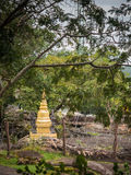 Pagoda with barbed wire. Pagoda with barbed wire at borderland royalty free stock image