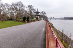 Pagoda in Battersea park in winter Royalty Free Stock Images