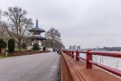 Pagoda in Battersea park in winter Stock Photos
