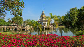 Pagoda with beautiful garden Royalty Free Stock Images