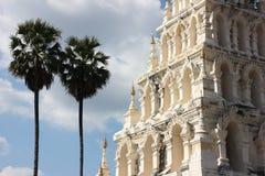 Pagoda bianca in chiangmai Tailandia Immagine Stock Libera da Diritti