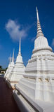Pagoda bianco nel tempiale Fotografie Stock