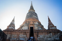 Pagoda. Big pagoda in Ayuthaya Thailand 2016 stock image