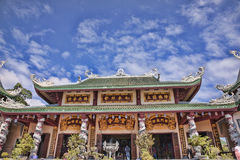 The pagoda. The big pagoda under blue sky Stock Images