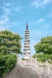 Pagoda blanca, China, día, Hangzhou Imágenes de archivo libres de regalías