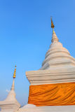 Pagoda blanca en Wat Phra That Khao Noi, provincia de NaN Imagen de archivo