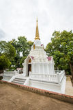 Pagoda blanche chez Wat Doi Mae Pang Photo stock