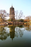 Pagoda blanche dans Liaoyang de porcelaine Photographie stock libre de droits