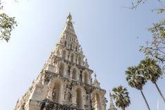 Pagoda blanche en Thaïlande Photographie stock