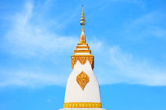 Pagoda on blue sky background. Pagoda, Suan Tan Temple Royalty Free Stock Photos