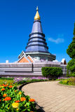 Pagoda with blue sky. at Chiang Mai, Thailand Stock Photography