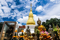 Pagoda in blue sky. At the north of Thailand Royalty Free Stock Image