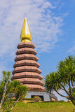Pagoda with blue sky in sunlight Royalty Free Stock Photography