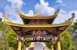Pagoda bouddhiste dans le secteur scénique Vietnam du Sud de duoc de Ben Images stock