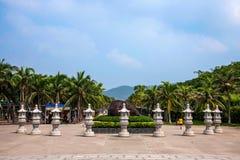 Pagoda bouddhiste de place culturelle de Sanya, Hainan Nanshan Photographie stock libre de droits