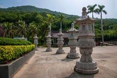 Pagoda bouddhiste de place culturelle de Sanya, Hainan Nanshan Image stock