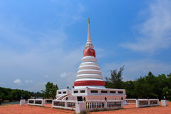 Pagoda buddhism thai temple. Pagoda buddhism beautiful and blue sky Thailand Royalty Free Stock Image
