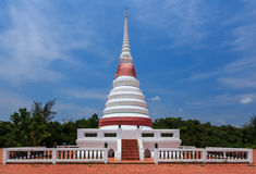 Pagoda buddhism thai temple. Pagoda buddhism beautiful and blue sky Thailand Stock Image