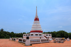 Pagoda blue sky thailand. Pagoda  buddhism beautiful thai Temple Stock Image