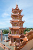 Pagoda in the Buddhist temple of Chua Buu Son. Fantkhiyet, Vietnam Stock Images