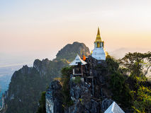 Pagoda at Buddhist Temple in Lampang Province Royalty Free Stock Images