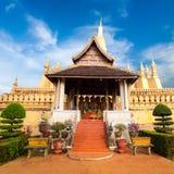 Pagoda buddista dorata di Phra che tempio di Luang Vientiane, Laos Fotografie Stock Libere da Diritti