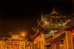 Pagoda budista Wuxi Jiangsu China del templo de Nanchang de la puerta de la entrada Fotos de archivo libres de regalías