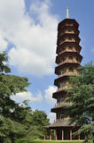 Pagoda building. View of the ten storey, octagonal Pagoda structure constructed in the  18th century, Kew Gardens, London Royalty Free Stock Photo