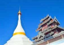 Pagoda Burmese style Wat Phra That Doi Kong Mu temple in Northe. Pagoda Burmese style Wat Phra That Doi Kong Mu temple in Mae Hong Son City in Northern Thailand Royalty Free Stock Photo