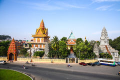 Pagoda in Cambodia Independence Day Royal Palace Silver Pagoda Stock Images