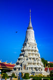 Pagoda. A Cambodian temple called pagoda besides the kings palace Royalty Free Stock Image