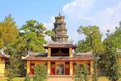 Thien Mu Pagoda, Hue Vietnam. Pagoda of the Celestial Lady also called Linh Mụ Pagoda is a historic temple in the city of Huế in Vietnam royalty free stock image