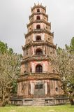 The Pagoda of the Celestial Lady in Hue Vietnam - Chua Thien Mu. The Pagoda of the Celestial Lady is a historic temple in the city of Hue in Vietnam, Chua Thien royalty free stock images