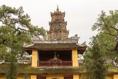 The Pagoda of the Celestial Lady in Hue Vietnam - Chua Thien Mu Royalty Free Stock Photography