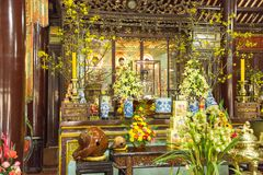 The Pagoda of the Celestial Lady in Hue Vietnam - Chua Thien Mu Stock Images
