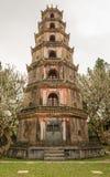 The Pagoda of the Celestial Lady in Hue Vietnam - Chua Thien Mu Royalty Free Stock Photos