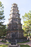 Pagoda of the Celestial Lady in Hue, Vietnam. This photo is taken in Hue Old Capital. The Pagoda of the Celestial Lady Vietnamese: Chùa Thiên Mụ; also royalty free stock images