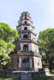 Pagoda of the Celestial Lady in Hue, Vietnam. This photo is taken in Hue Old Capital. The Pagoda of the Celestial Lady Vietnamese: Chùa Thiên Mụ; also stock photos