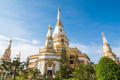 Pagoda chaimongkol in roiet province Royalty Free Stock Photography