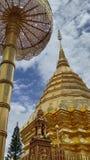 Pagoda in Chaingmai. DoiSutep temple in Chaingmai province Thailand Royalty Free Stock Photography
