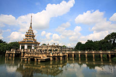 Pagoda at Chalerm Prakiat park in Nonthaburi Royalty Free Stock Photography