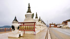 The pagoda. Pagoda, the characteristics of Tibetan culture here Royalty Free Stock Photo