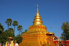 The pagoda of Chiangmai, Thailand Royalty Free Stock Photography